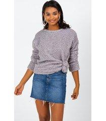 caelynn wubby sweater - gray