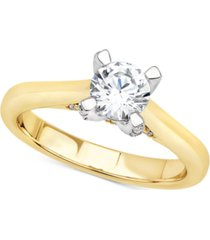 certified diamond solitaire engagement ring (1 ct. t.w.) in 14k yellow or white gold