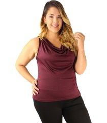 blusa adulto femenino vinotinto drapeada horma suelta
