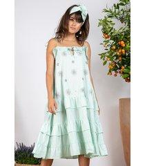 sundress flower midi dress