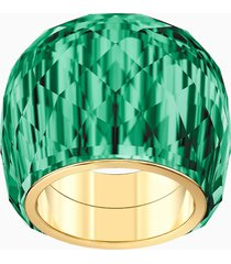 anello swarovski nirvana, verde, pvd tonalitã oro