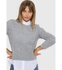 sweater gris laila paola