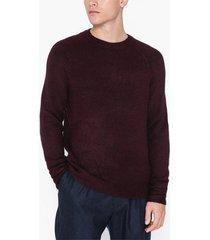 topman burgundy raglan knitted jumper tröjor burgundy