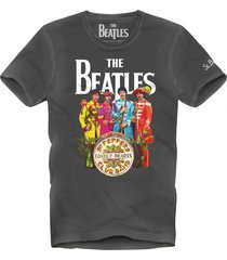 black beatles man t-shirt with fade look