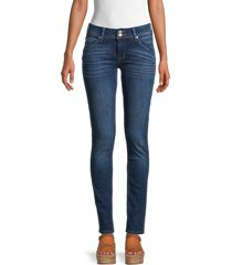 hudson women's collin mid-rise skinny jeans - howling - size 30 (8-10)