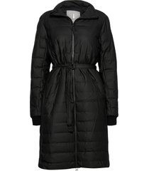 trekker w coat gevoerde lange jas zwart rains