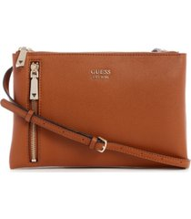 guess naya double zip crossbody bag