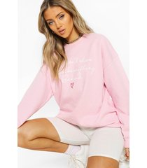 100% proceeds donated to charity sweat shirt, pink