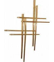 brinco crucifixo duplo 3rs semijoias dourado