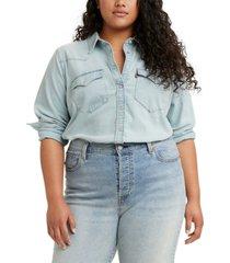 levi's trendy plus size ultimate western shirt