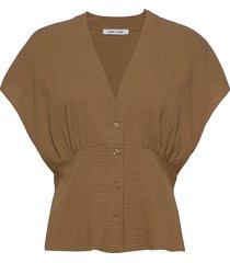 valerie top 11238 blouses short-sleeved bruin samsøe samsøe