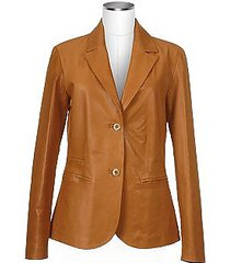 forzieri designer leather jackets, women's tan italian genuine leather blazer