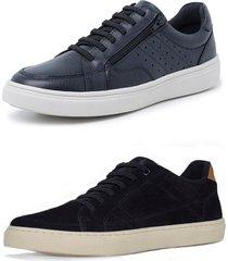 kit 2 sapatenis sandalo soft preto e basic preto