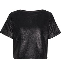 tea sequin top crop tops zwart twist & tango