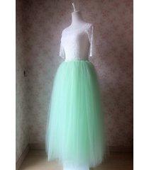 mint green maxi length 4 layer full tulle skirt custom bachelorette tutus nwt