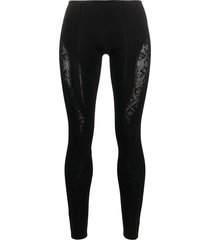 1017 alyx 9sm contrast skinny-fit leggings - black