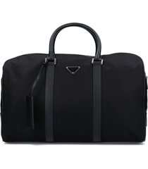 saffiano leather details duffle bag