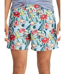traveler floral swim trunks