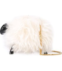 oscar de la renta sheep clutch bag - white