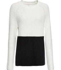 maglione bicolore (bianco) - rainbow