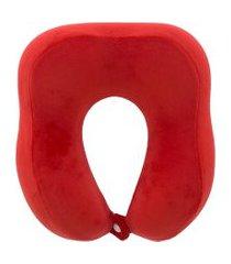 almofada de pescoço stz peluciada vermelho