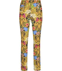 versace jeans couture all-over printed trousers