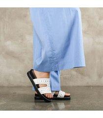 sandalia plataforma blanca para mujer pia