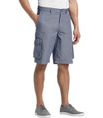 joseph abboud blue modern fit cargo shorts