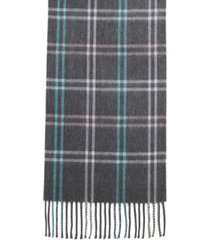 steve madden mid weight cozy plaid muffler scarf
