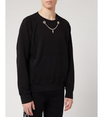 neil barrett men's chain detail sweatshirt - black - m