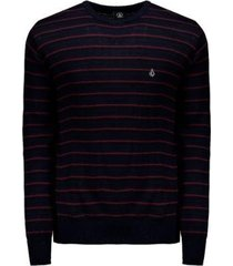 moletom volcom tricot stripe heather masculina