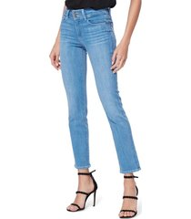 women's paige hidden hills high waist ankle straight leg jeans, size 27 - blue