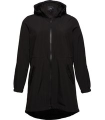 softshell jacket waterproof soft and warm parka lange jas jas zwart zizzi
