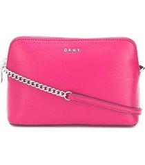 dkny logo cross body bag - rosa