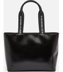 love moschino women's heart logo tote bag - black