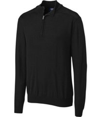cutter and buck men's big and tall long sleeves douglas half zip mock sweater
