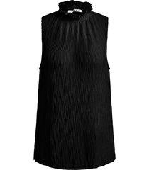 mouwloze top met crãªpe effect didi  zwart
