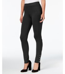 style & co snap-hem ponte-knit leggings, created for macy's