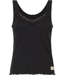 not giving in tank top t-shirts & tops sleeveless zwart odd molly