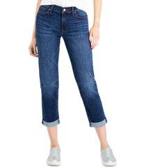 celebrity pink juniors' cuffed girlfriend jeans