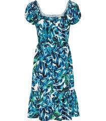 gedessineerde jurk met knopen