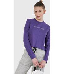 camiseta manga larga violeta calvin klein