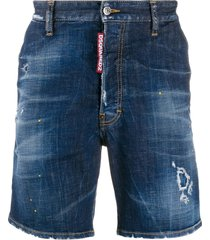 dsquared2 straight-fit shorts - blue