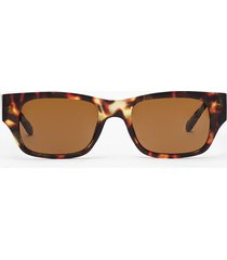 womens get the lowdown slim rectangle sunglasses - brown