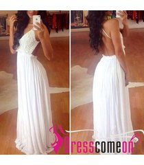 new sexy backless chiffon white beach wedding/bridal gown,cheap prom dress r349