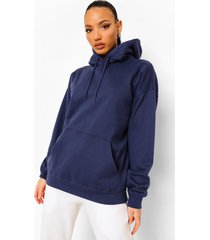 tall oversized effen hoodie, navy