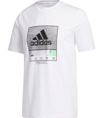 camiseta adidas future hoops branco - branco - masculino - dafiti
