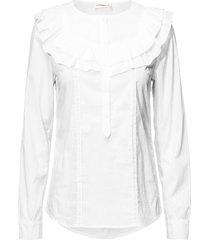 tricia blouse lange mouwen wit custommade