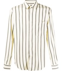 sandro paris striped tailored shirt - neutrals