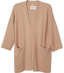 matt & nat elsa womens open front cardigan, nude